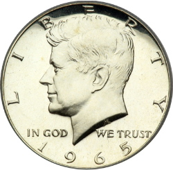 A Kennedy Half-Dollar Containing 40% Silver