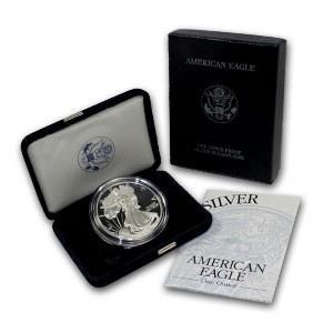 A Proof American Silver Eagle with Box and CoA
