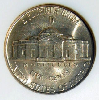 A War Nickel Containing 35% Silver
